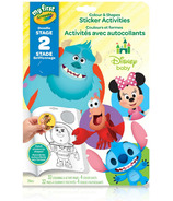 Crayola My First Colour & Shapes Sticker Activities Disney Baby