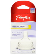 Playtex Medium Flow Natural Latch Silicone Nipples