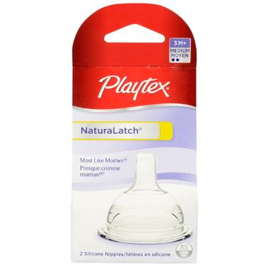 Playtex Medium Flow Natural Latch Silicone Nipples