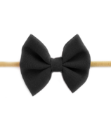 Baby Wisp Headband Fanny Bow Powder Black