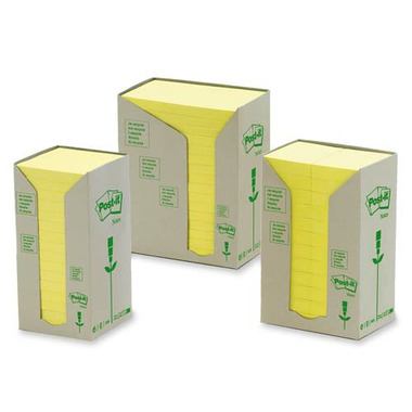 3M Post-it Recycled Original Note Pads