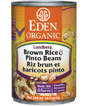 Eden Organic Canned Brown Rice & Pinto Beans
