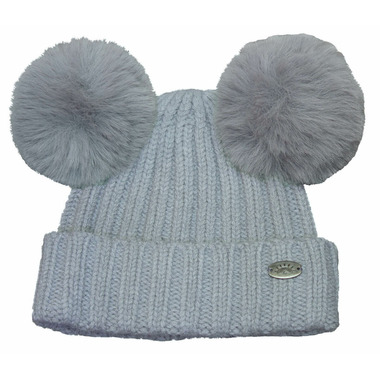 Calikids Cashmere Touch Hat with PomPom Mom & Me Grey