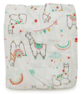 Loulou Lollipop Muslin Crib Sheet Llama
