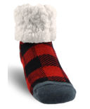 Pudus Classic Slipper Sock LumberJack Red