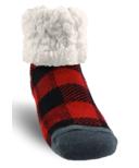 Pudus Classic Slipper Sock LumberJack Red