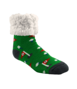 Pudus Classic Slipper Socks Golf Green