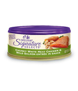 Wellness Signature Selects Shredded Chicken & Salmon Wet Food CASE OF 12