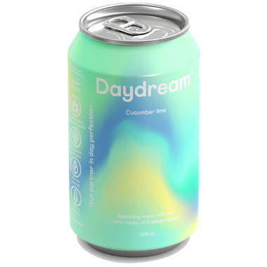 Daydream Cucumber Lime Sparkling Water Infused with Hemp Seed Oil