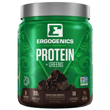 Ergogenics Plant Protein + Greens Chocolate
