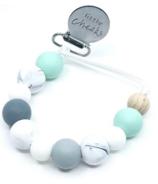Little Cheeks Marble Pacifier Clips Mint