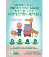 Disposable Protective Masks for Kids Pink