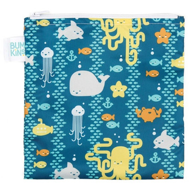 Bumkins Reusable Snack Bag Large Sea Friends
