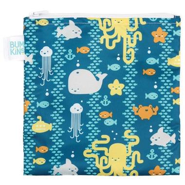 Bumkins Reusable Snack Bag Large Sea Friends