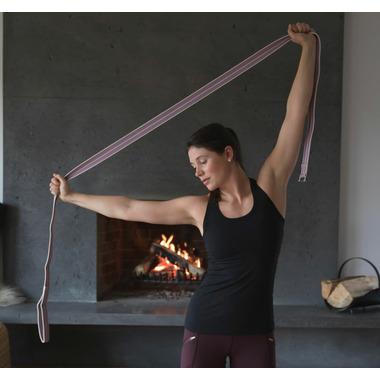 Halfmoon Loop Yoga Strap Natural Lilac