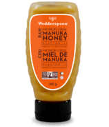 Wedderspoon Raw Monofloral Manuka Honey KFactor 16 Squeeze Bottle