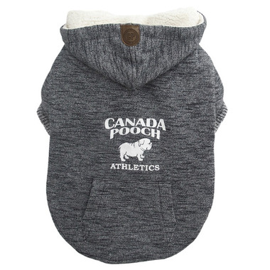 Canada Pooch Cozy Caribou Hoodie in Marled Grey Size 14