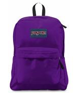 Jansport Super Break Backpack Signature Purple