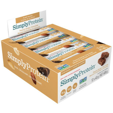 Simply Protein Bars Peanut Butter Chocolate Case