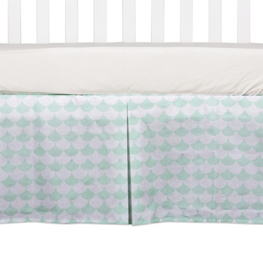 Lolli Living Bed Skirt Kayden Sea Glass Green Scallop