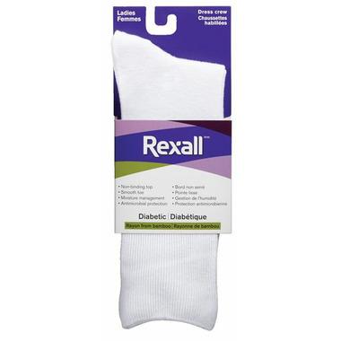 Rexall Ladies Bamboo Dress Crew Diabetic Socks