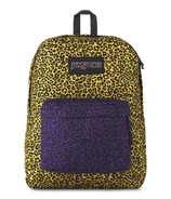 JanSport Black Label Superbreak Backpack Yellow Leopard Life