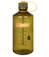 Nalgene Tritan 32 Ounce Narrow Mouth Loop Top Clear Olive