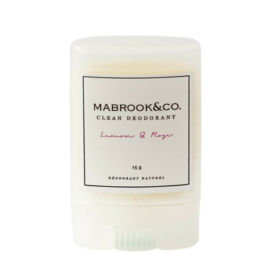 Mabrook & Co. Clean Deodorant Lemon & Rose Travel Size