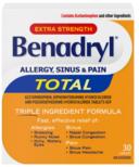 Benadryl Total Allergy, Sinus & Pain Medicine Extra Strength