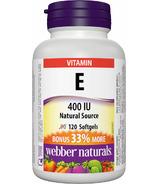 Taille de bonus de gélules de vitamine E de source naturelle de Webber Naturals