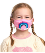 Hatley Non-Medical Reusable Kids Face Mask Rainbow