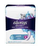 Serviettes hygiéniques pour incontinence Always Discreet à forte absorption