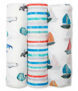 Lulujo Baby Bamboo Swaddles Out at Sea
