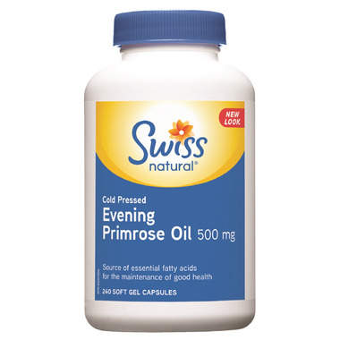 Swiss Natural Cold Pressed Evening Primrose Oil