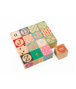 Janod Kubix Carved Alphabet Blocks