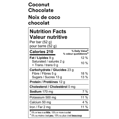 RXBAR Real Food Protein Bar Coconut Chocolate