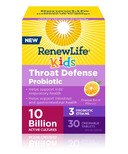 Renew Life Kids Throat Defense Probiotic Orange Burst Flavour