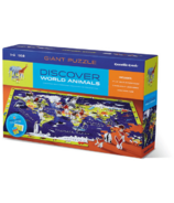 Crocodile Creek Discover World Animals 100-Piece Puzzle