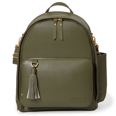 Skip Hop Greenwich Simply Chic Diaper Backpack Olive