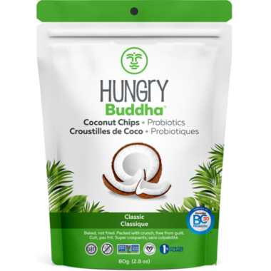 Hungry Buddha Classic Coconut Chips + Probiotics