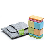 Tegu Original Pocket Pouch Magnetic Wooden Block Set Tints