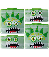 Russbe Reusable Snack and Sandwich Bags Green Monster