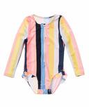 Snapper Rock Opti Stripe Baby Long Sleeve Surf Suit