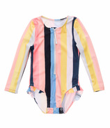 Snapper Rock Opti Stripe Baby Long Sleeve Surf Suit