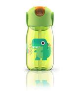 Zoku Kids Flip Straw Bottle Green