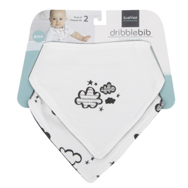 Kushies Bandana Bib Clouds