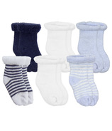 Kushies Newborn Terry Socks Blue