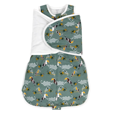 on sale f16a0 5eae1 Nest Designs Organic Cotton Swaddle Sleep Bag 2.5 TOG Toucan Small