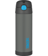 Thermos Stainless Steel Vacuum Insulated Straw Bottle Charcoal