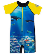 nano One-Piece Rashguard Swimsuit Hawaii Sun 2-4Y